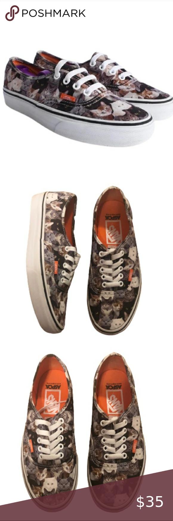 Vans Aspca Kitten Sneakers Vans Aspca Kitten Sneakers Size 8 Inspired For The Prevention Of Animal Cruelty Kitten Design Low In 2020 Sneakers Vans Sneakers Vans Shoes