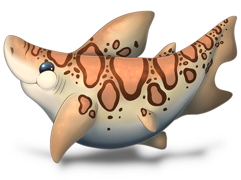 fat leopard shark aka procrastination drawing i ve got so much