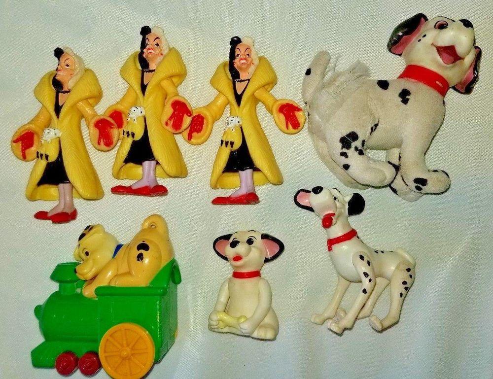Vintage Mcdonalds Disney 101 Or 102 Dalmatians Figure Toys Dogs