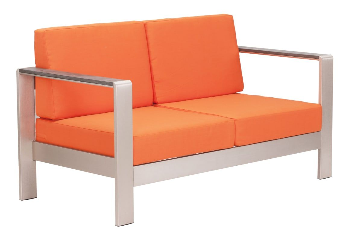 Zuo Modern 703652 Cosmopolitan 49 Long Sofa Cushion Only Orange