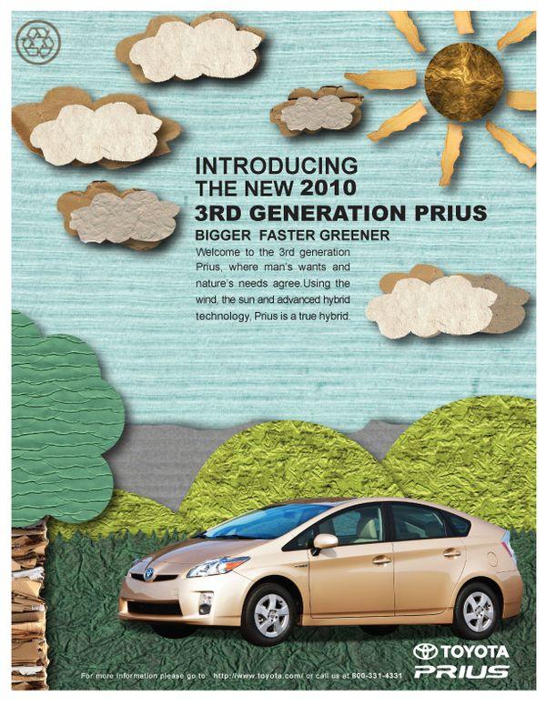 2010 Toyota Prius Advertisement By Kylee Tarasyuk Via Behance