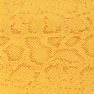 Tissu simili cuir croco avec motif serpent – Jaune / Jaune foncé x50 cm   – Les Nouveautés Perles & Co