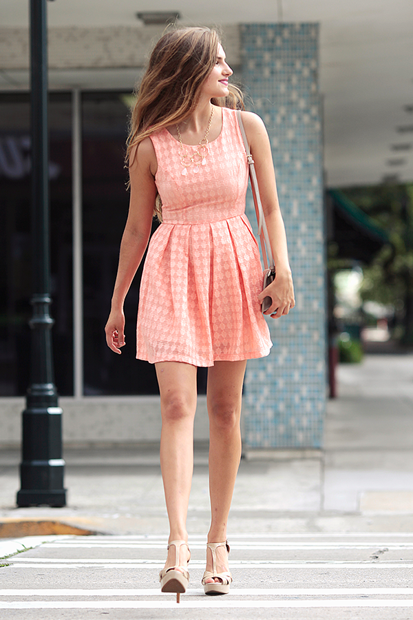 Peach Spritz Dress
