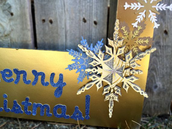 Beautiful 3D snowflakes on a Christmas photobooth prop