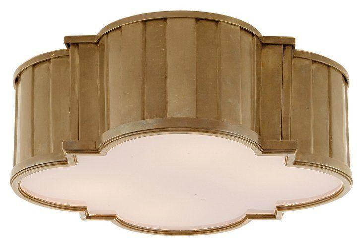 Tilden Large Flush Mount Brass Visual Comfort Lighting Visual Comfort Flush Mount Visual comfort flush mount