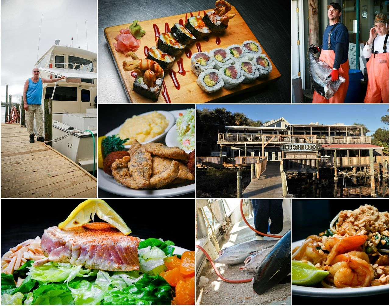 Harbor Docks Local Color Flavor Destin Fl Sushi Seafood