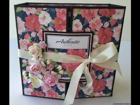 A Gorgeous Gatefold Mini Album With Floral Patterned Paper And So