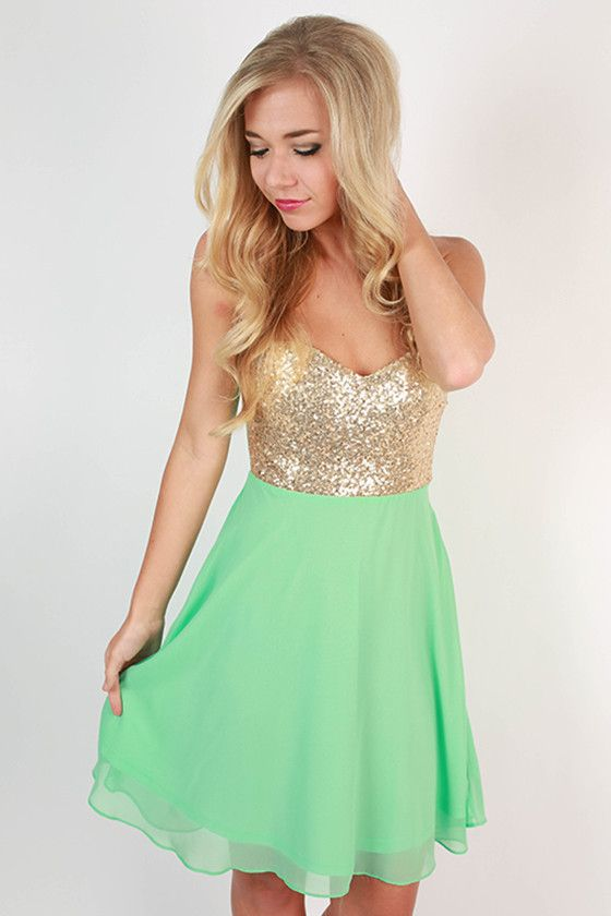 For The Twirl Of It Mini Dress in Mint af8e3a65b9