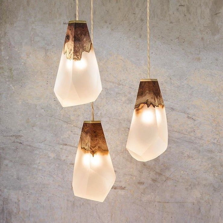 Exterior Lightingdesign Ideas: Elm Burr & Resin Pendants By @ilukalondon @designbunker