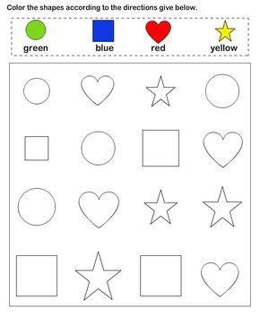 Shapes - math Worksheets - preschool Worksheets | belajar mitA ...