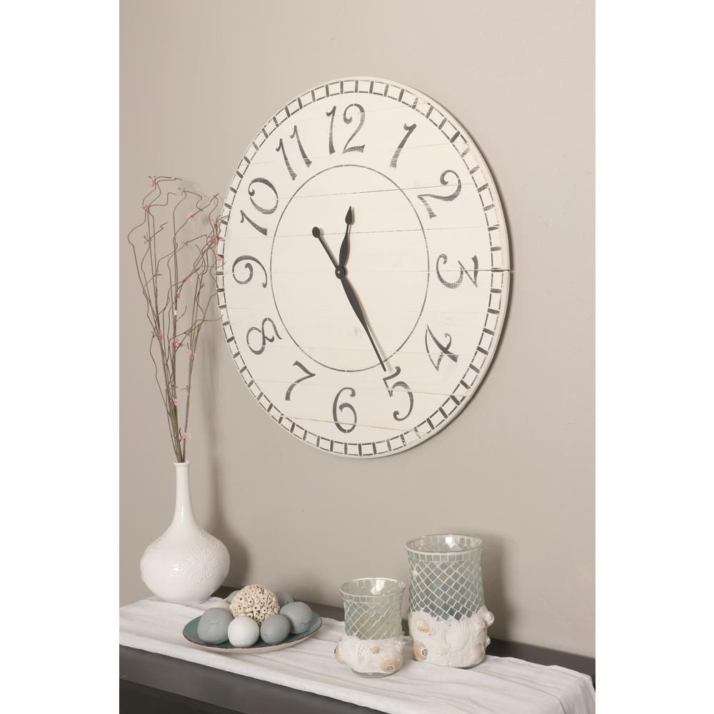 Brandtworks 30 in oversized antique white farmhouse wall