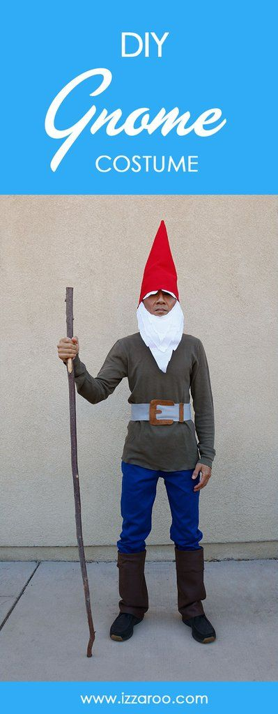 DIY Tutorial - How to Make a Gnome Halloween Costume #gnomecostume