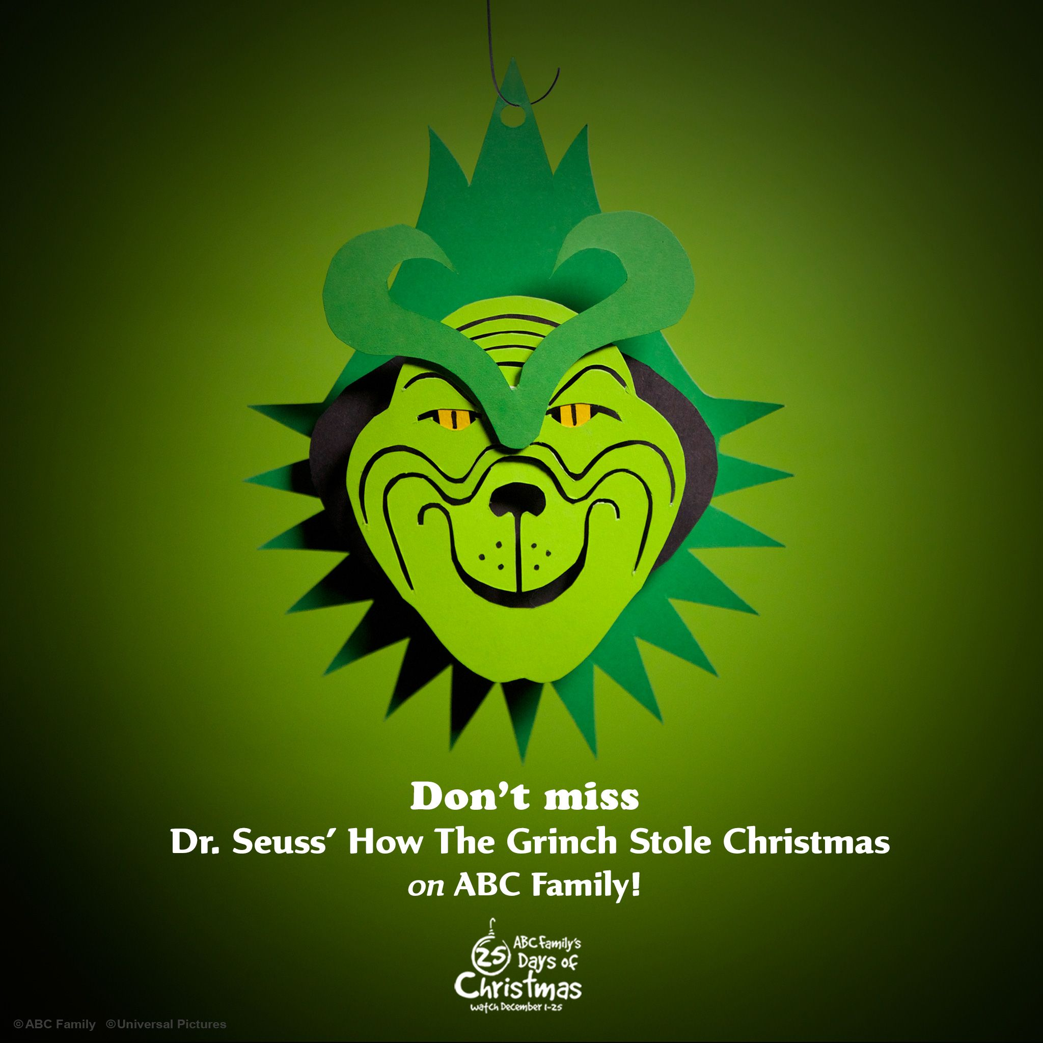 Don't miss How the Grinch Stole Christmas during ABC