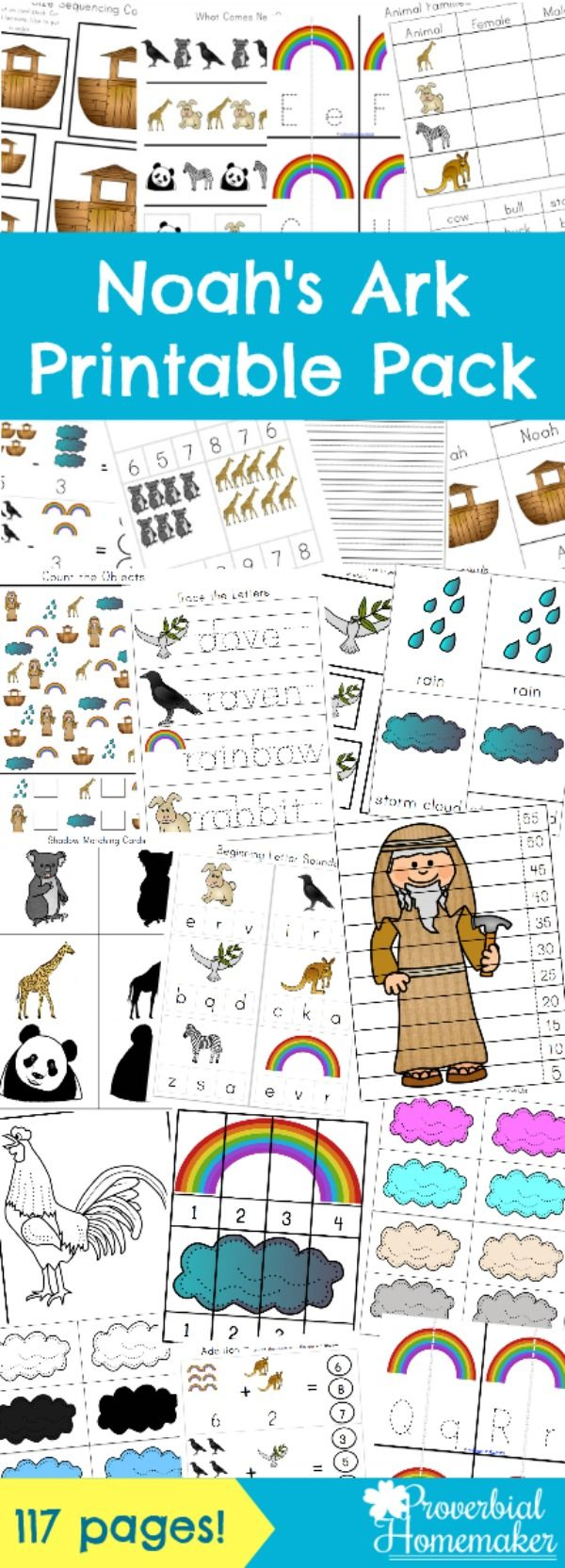 noah u0027s ark printable pack bible stories activities and homeschool