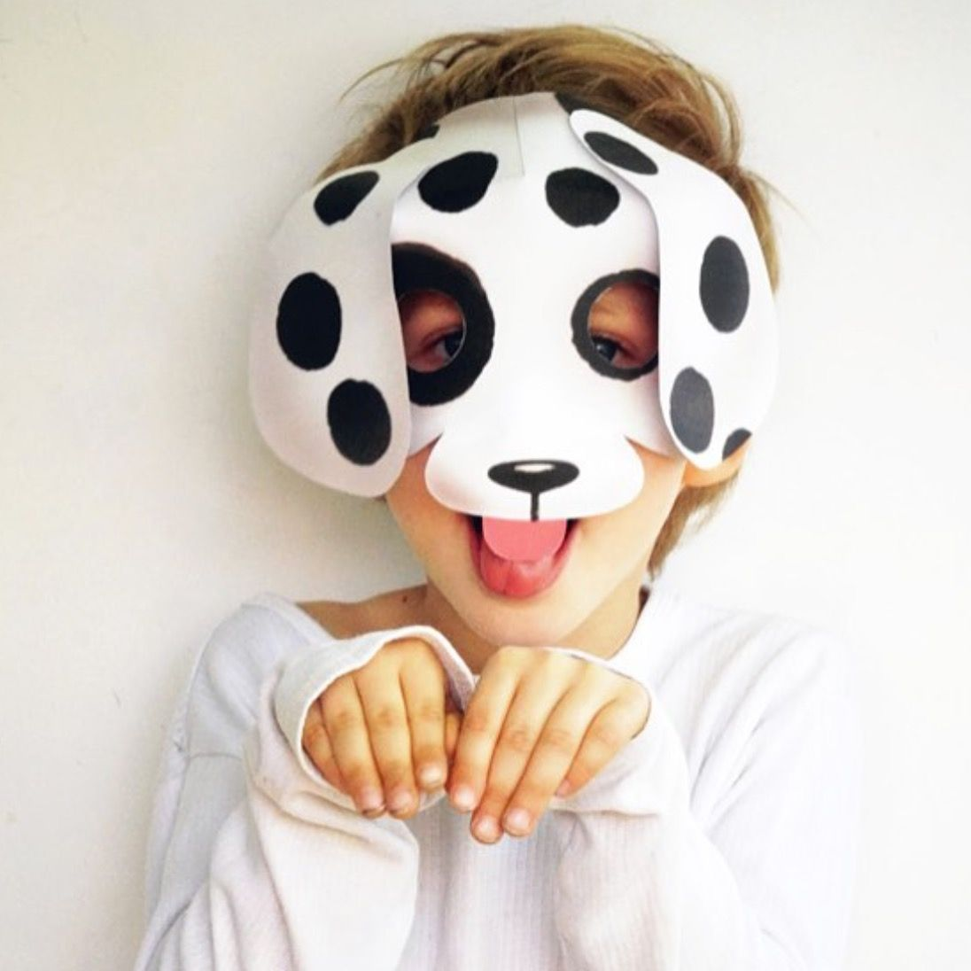Printable Puppy Mask At Happythought