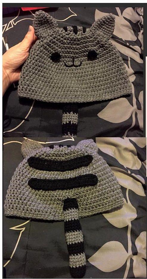Pusheen the cat Inspired Hat pattern by Carmina Garcia   Pinterest