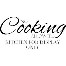 No cooking allowed