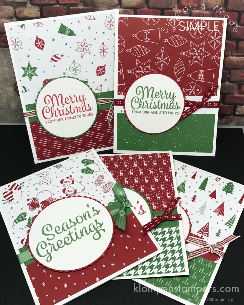 Quick & Easy Christmas Cards | Klompen Stampers