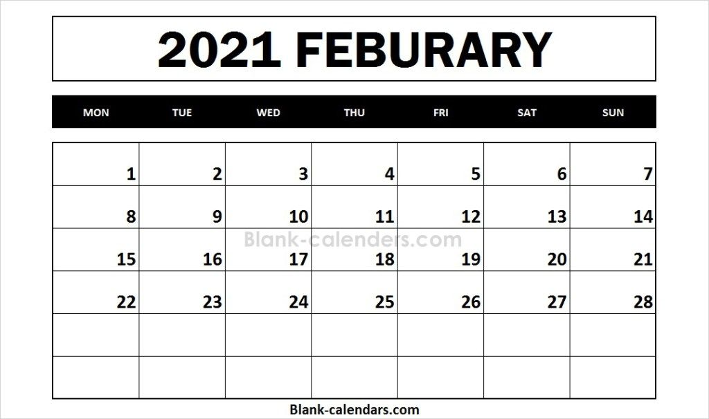 Free Printable 2021 Calendar February In 2020 2021 Calendar September Calendar Calendar