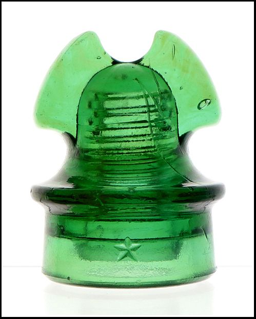 Glowing Green Cd 260 Star From Pole Top Discoveries Glass