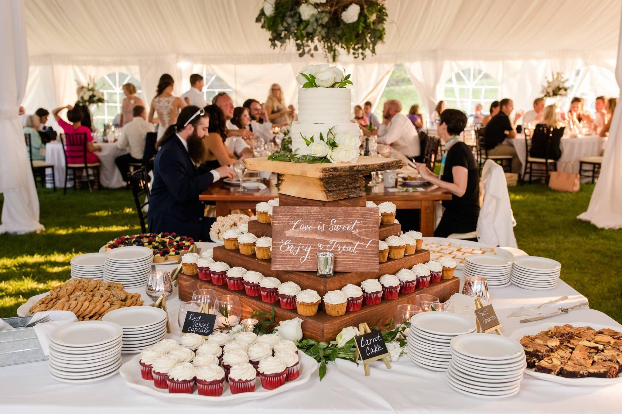 Dessert Table at the Barn @ Five Lakes Resort #BarnWedding