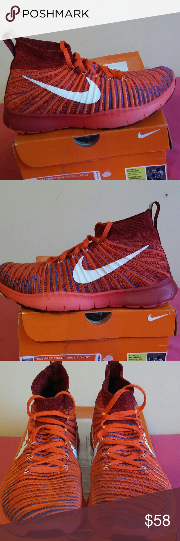 3b0736afd4e6 Nike Free Train Force Flyknit Size 9 Men... Shows is gently used and ...