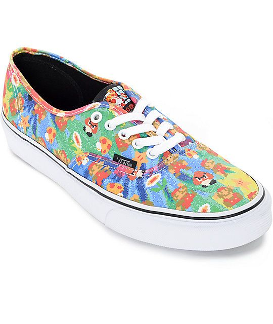 7f2e9c8cf3 Vans x Nintendo Authentic Super Mario Brothers Tie Dye Skate Shoes (Mens)