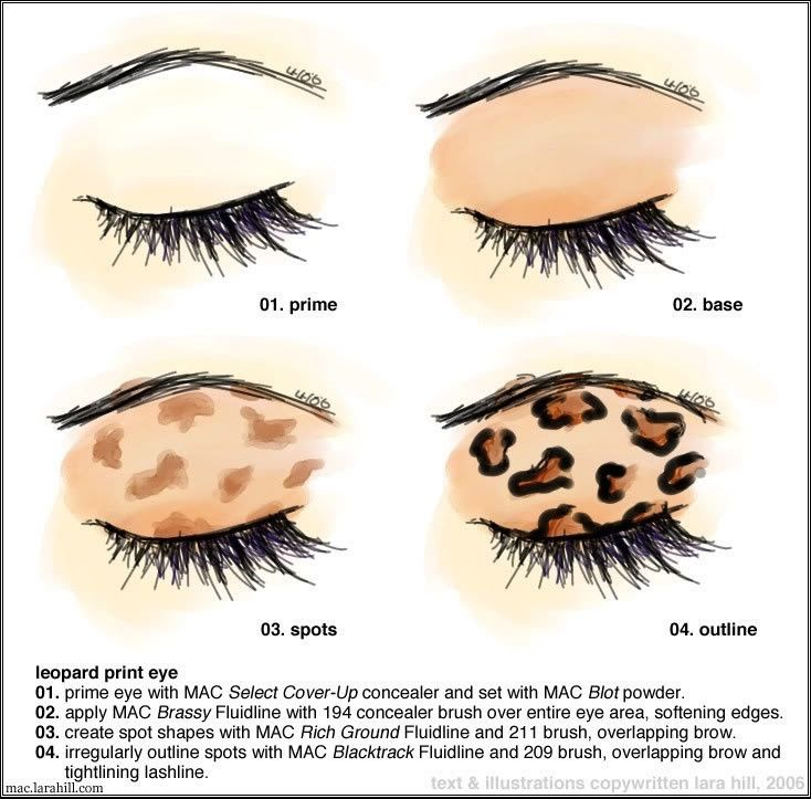 Cheetah Print Eyeshadow Leopard Makeup Halloween Leopard Makeup