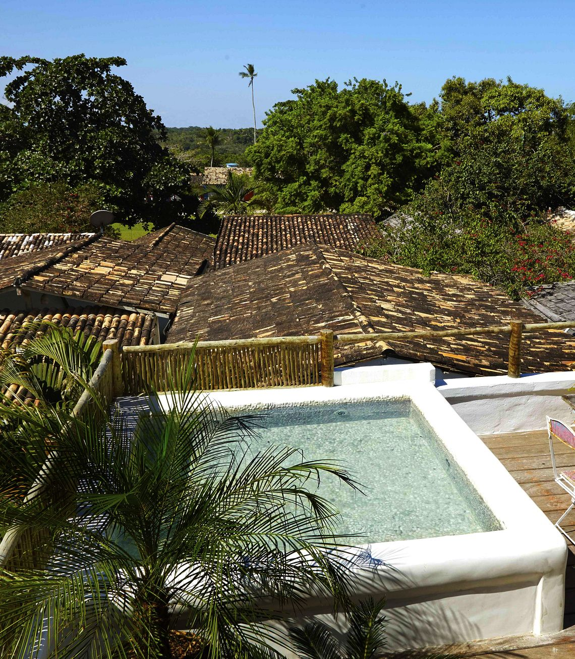 Private roof top pool of Casa Terraço do Céu, UXUA Casa Hotel & Spa, Trancoso, Bahia.