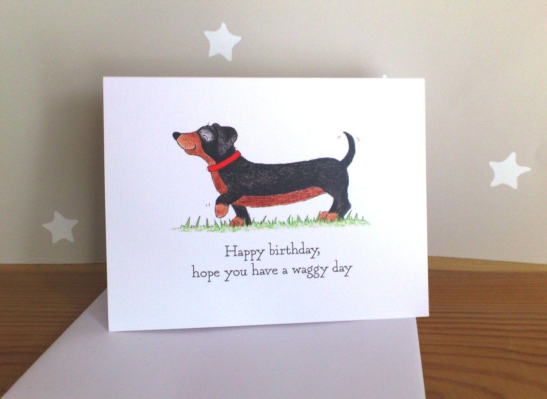 Dachshund Birthday Card Dog Lovers Birthday Card Hope You Etsy Dog Birthday Card Dog Lovers Birthday Dog Birthday
