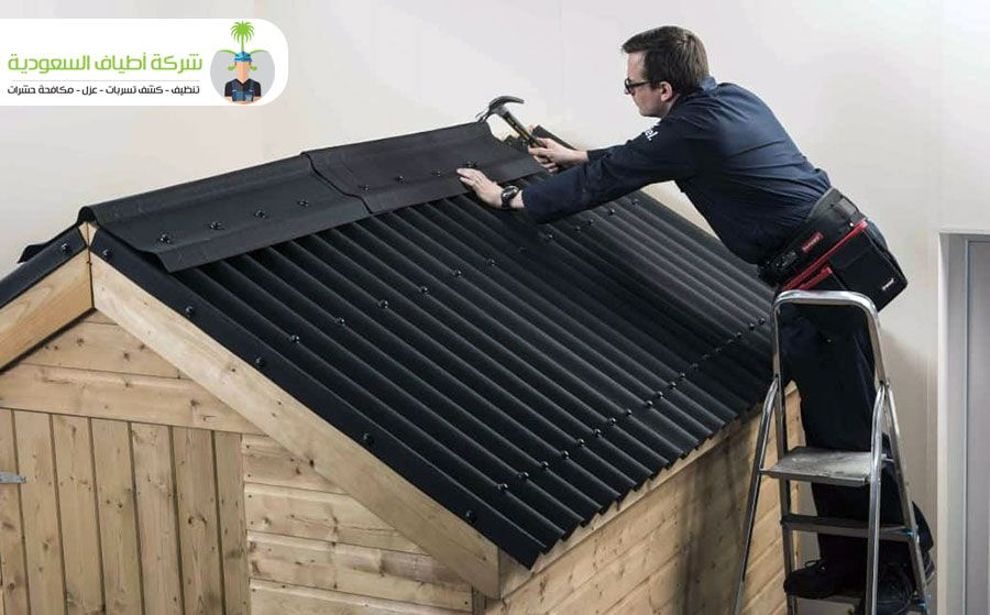 عزل أسطح القرميد والأسطح الخشبية وما هي أفضل طريقه تركيب القرميد على الاسطح الخشب In 2020 Bitumen Roof Corrugated Metal Roof Roofing Sheets