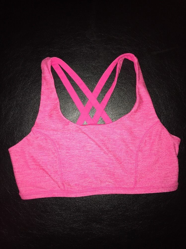 Avia Sports Bra Girls Racer Back XL 1416 Hot pink eBay