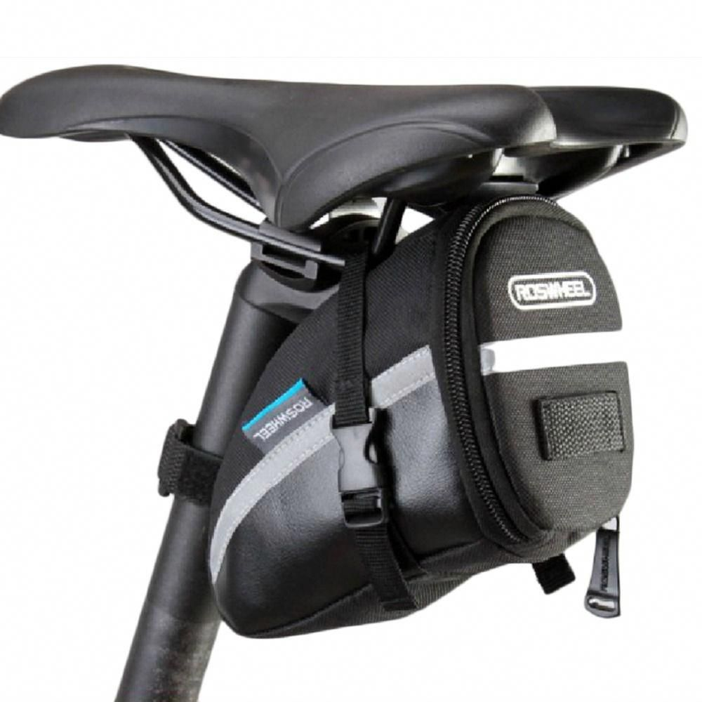 Mountain Road Cycling Bicycle Saddle Bag Rear Tail Seat Storage Pouch Black