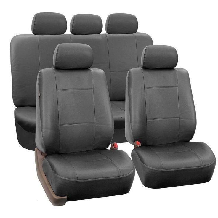 Group Premium PU Leather 15 in x 12 in x 6 in Full Set Seat CoversPU002SDGRAY115  Car FH Group Premium PU Leather 15 in x 12 in x 6 in Full Set Seat CoversPU002SDGRAY115...