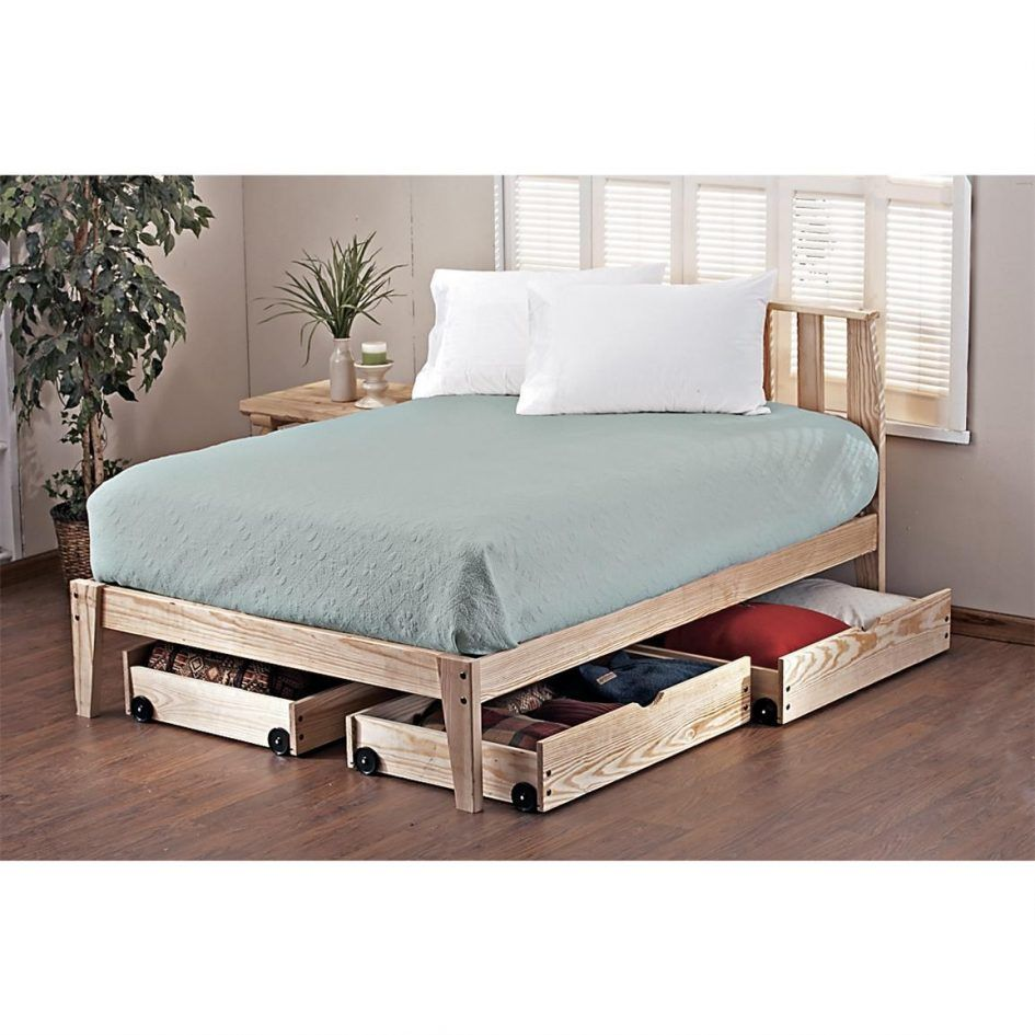 Bed Build Twin Size Frame With Drawers Full Storage Smart Under