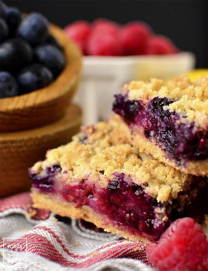 Triple Berry Crumb Bars Recipe Dessert Recipes Desserts Easy