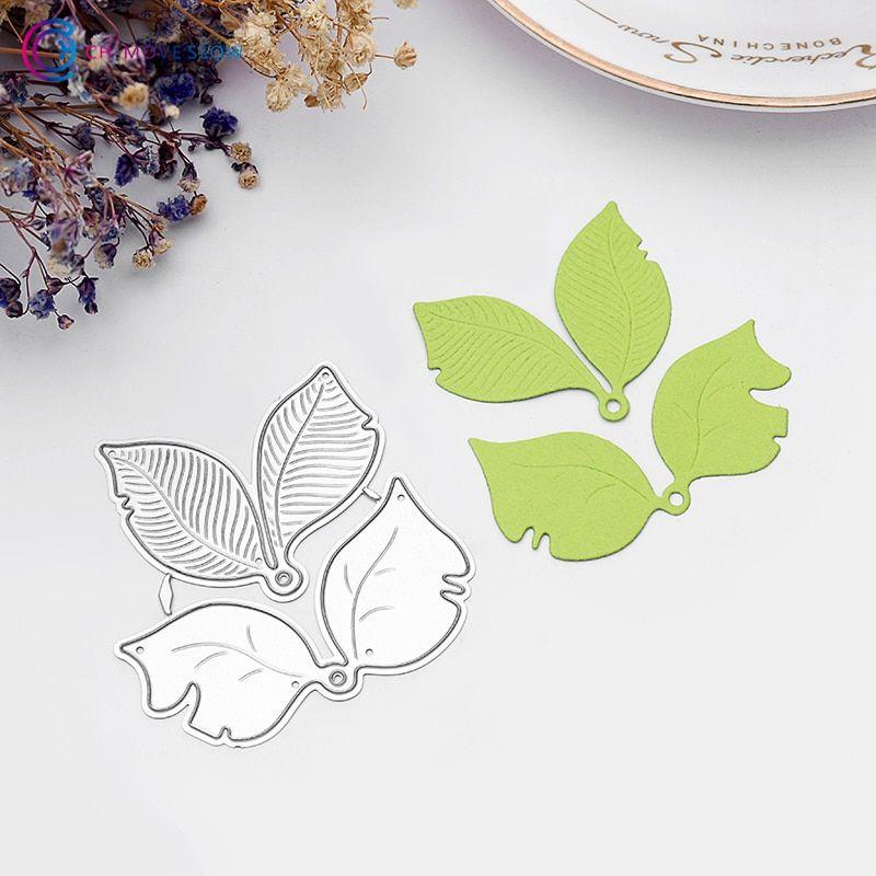 Embossing Die Cut Card Crafts DIY Flower Leaves Steel Cutting Die Stencil
