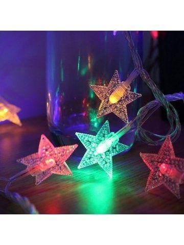 1PC Garland Christmas Lights Stars Outdoor Indoor Fairy Lights