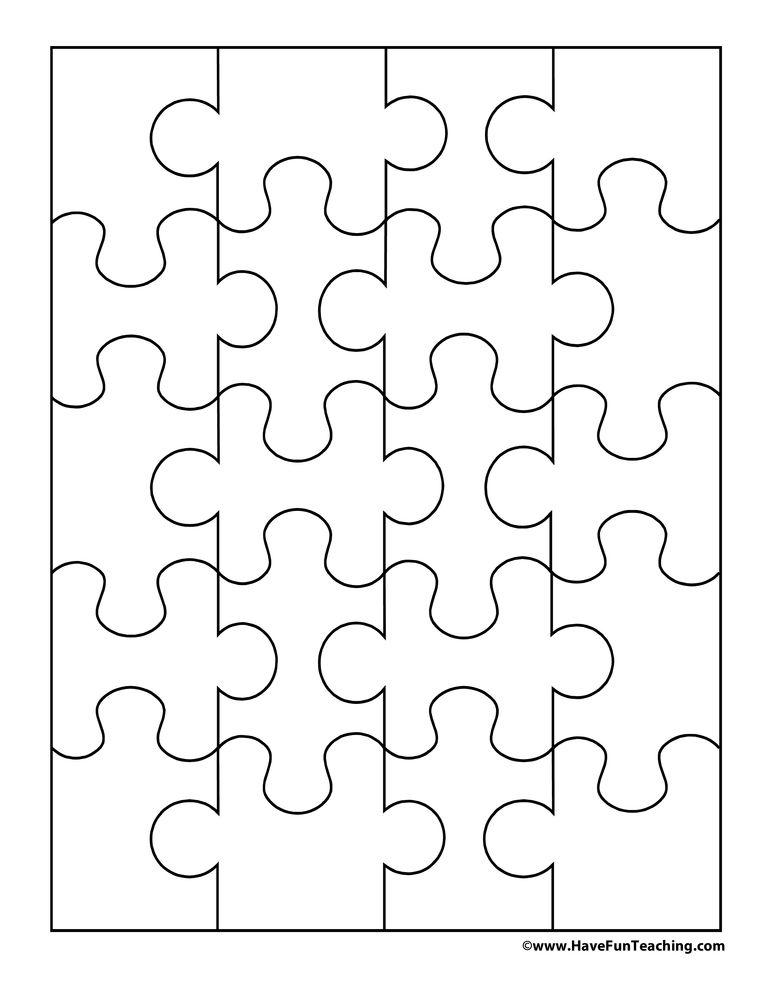 20 Pieces Blank Puzzle Puzzle Piece Crafts Puzzle Crafts