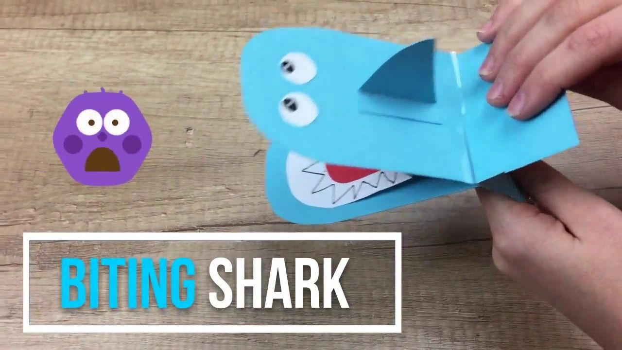 Biting Shark Paper Craft For Kids Super Easy And Fun Youtube