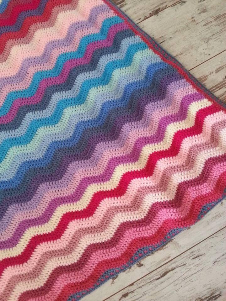 Ripple Deken Haken Haken Pinterest Needlework Crochet And Craft