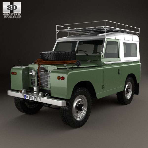 land rover series iia 88 pickup 1961 3d model from. Black Bedroom Furniture Sets. Home Design Ideas