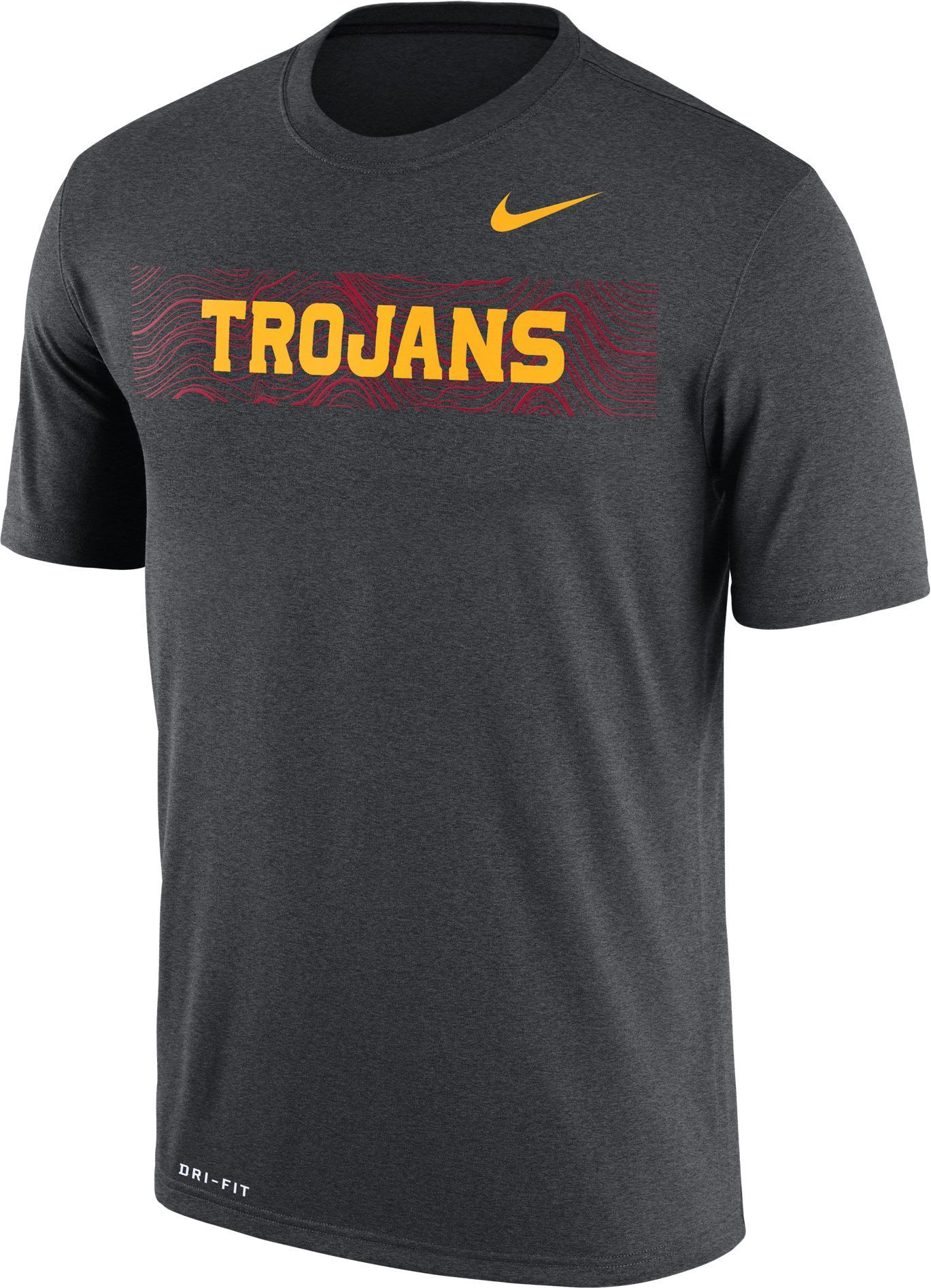 Nike Men S Usc Trojans Grey Football Sideline Legend T Shirt Team Nike Men Blue Football T Shirt
