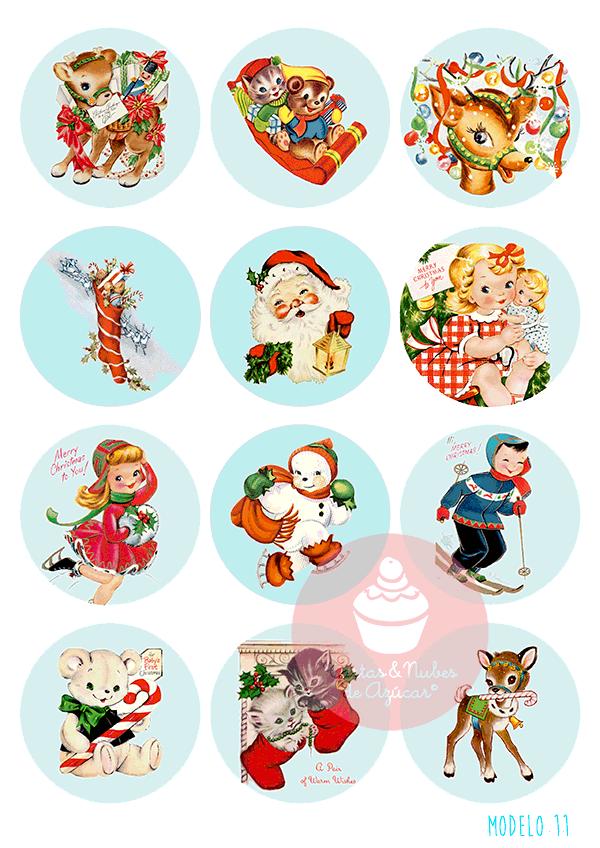 Papel de azúcar Navidad