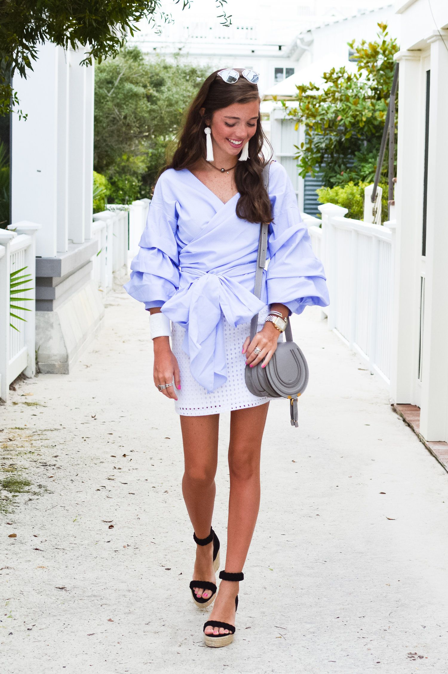 f9f2a4aefad0 fashion blogger lcb style outfit chloe marcie bag style keepers ruffle  outfit tory burch raye seaside florida beach tassel earrings dior so real  sunglasses