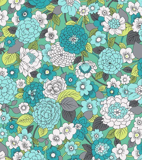 Keepsake Calico Fabric Blossoms Teal. At Joann Fabrics