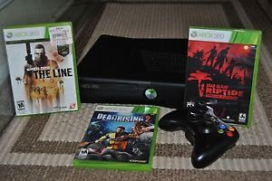 Xbox 360 Slim 4gb with 3 games!