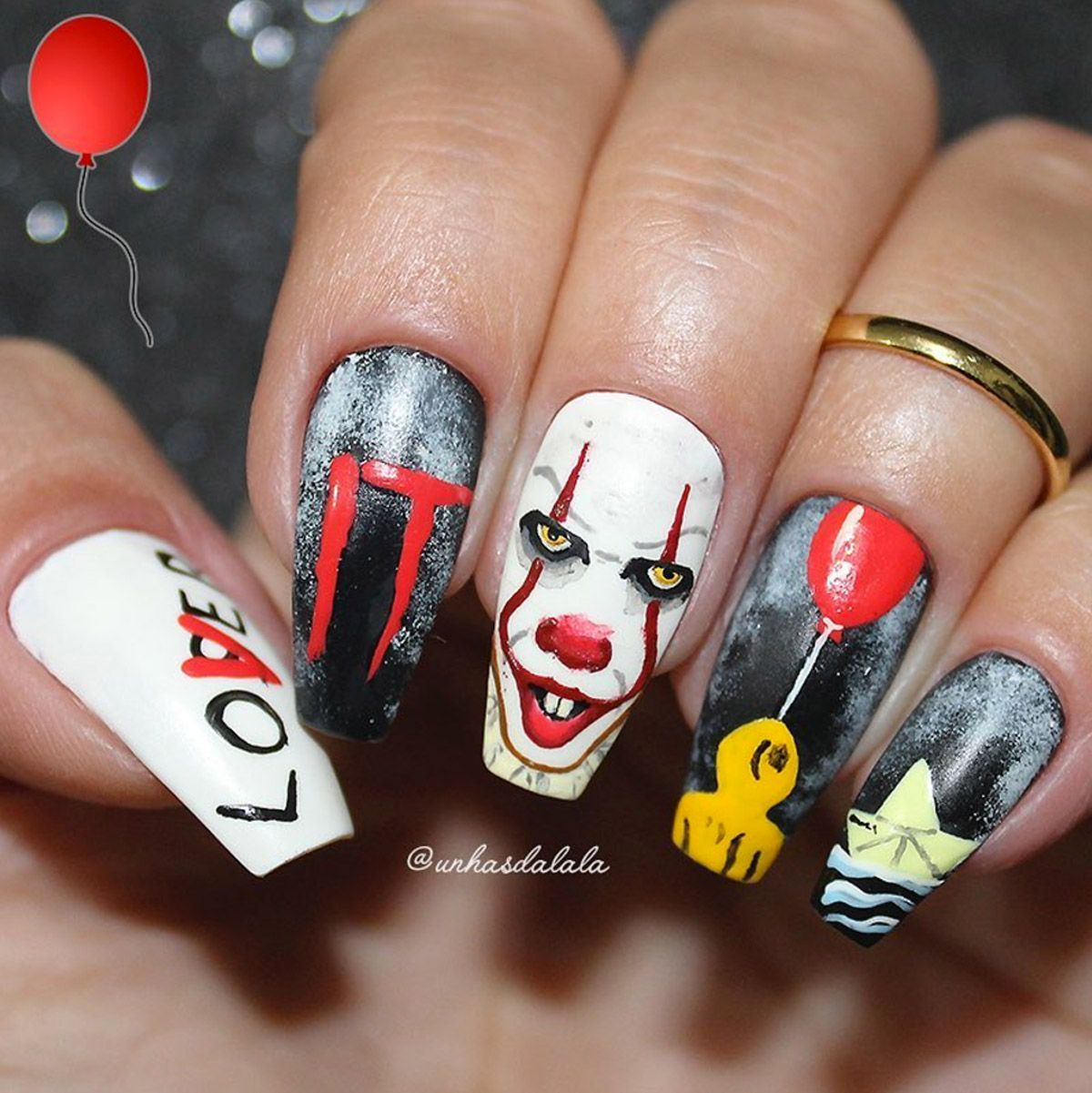 Waterproof Cream Color For Eyes Jet Deep Black In 2020 Gothic Nails Scary Nails Holloween Nails