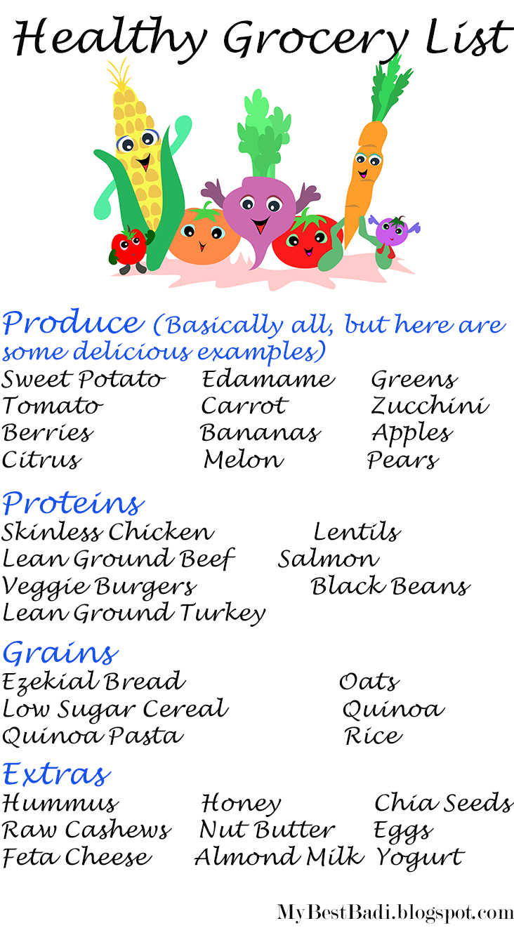No gym no problem yum yum food and clean eating healthy living healthy grocery list forumfinder Choice Image