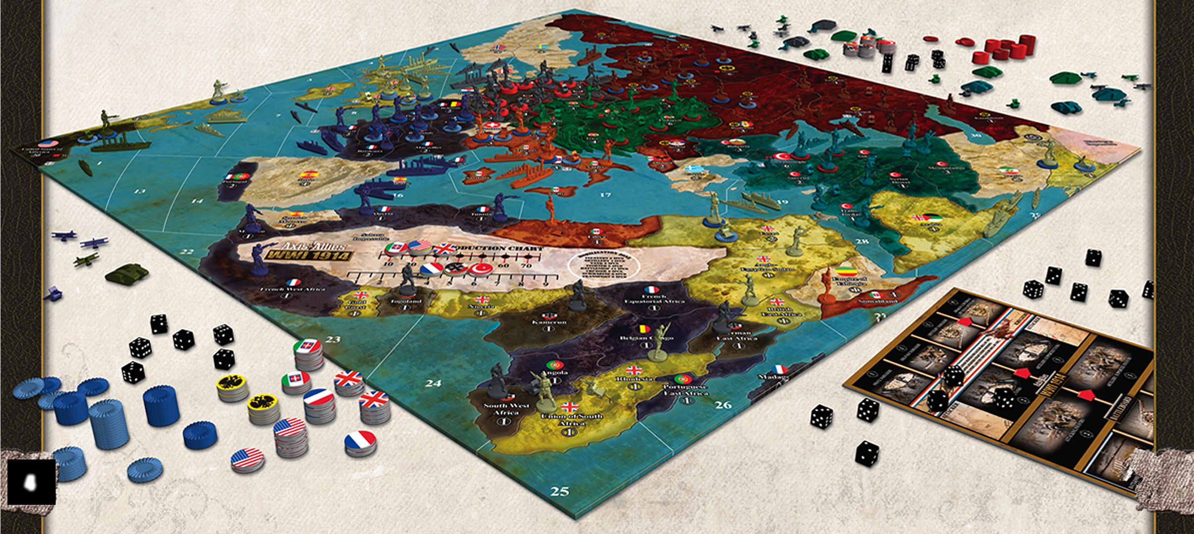 Axis and Allies 1914 Games to win, Board games, Toy tanks
